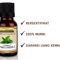 Happy Green Patchouli Essential Oil (30 ml) Minyak Atsiri Nilam Murni