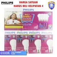 Jual Lampu LED Bulb Philips 8W Putih 8 W Watt 8W bohlam packing4pcs Murah