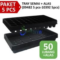Paket 5 Tray Semai + 5 Alas Nutrisi Hidroponik All Varian Jirifarm