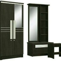 Paket Hemat Lemari 2 pintu dan Meja Rias Popular series