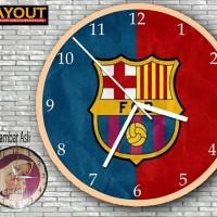 jam dinding kayu vintage barcelona d4e927beed