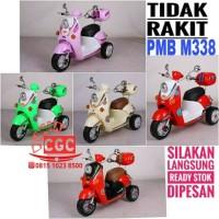 Mainan Motor Aki Scoopy PMB M338 TIDAK RAKIT Lampu Musik Bagasi Promo