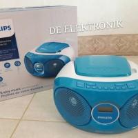 PHILIPS AZ215N/12 AUDIO PLAYER CD/FM RADIO SPEAKER BIRU
