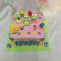 keroppi cakes/birthday cake/fondant cake