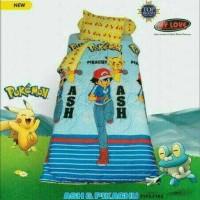 Jual Sprei My Love Pokemon ukuran single 100cmx200cmx22.5cm Murah