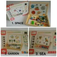 Mainan Edukasi / Magnetic Board / Wooden Puzzle