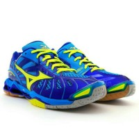 SEPATU VOLLY MIZUNO WAVE TORNADO X -DIVA BLUE   NEON YELLOW ORIGINAL 2cfa40101b