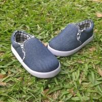 Jual Sepatu Anak Laki-Laki Model Slip On Jeans Denim Casual Trendy Murah