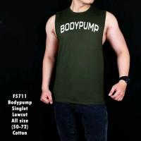 Kaos Singlet pria body pump