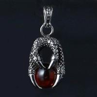 Dragon Claw Necklace Titanium Steel Kalung Liontin Pria Cakar Naga