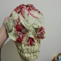 sale topeng Halloween Mask Latex import worm skull