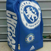 Tas Sepatu Futsal Chelsea Motif Biru