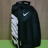 Tas Sepatu Futsal Bola Gym Fitness Running Nike Hitam Putih