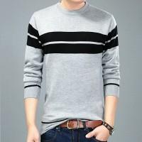 Jual Sweater Rajut pria / O-Neck / Mens Casual / Striped line Murah