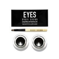 BOBBI BROWN Long Wear Gel Eyeliner Set (Isi 2+Brush) ( Sepia Ink+Blac
