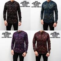Jual Kemeja Batik Songket Pria Panjang Kerja Kantor Slimfit / Baju Batik Murah