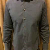 Kemeja Basic Zara Man Super Slimfit Navy Blue
