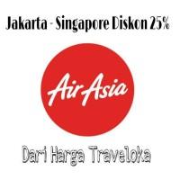 Tiket Pesawat Airasia Jakarta Singapore Diskon 25%