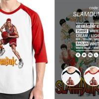 Kaos Raglan Slamdunk 02 - Tshirt Oblong Anime- Baju Distro Ordinal