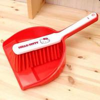 Jual Sapu Broom Sikat Pengki Serok Cikrak Mini Dust Pan Brush Hello Kitty Murah