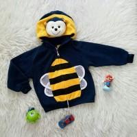 Jaket hoodie 3d bee baju bayi anak