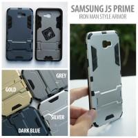 Samsung J5 Prime - Hardcase Iron Man Style Armor with Kickstand