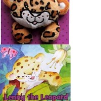 Lenny the Leopard Loves to Play Board Book with Finger Puppet Doll