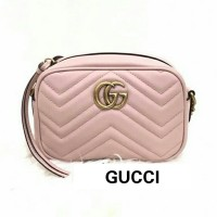 e86c37b75 JUAL TAS GUCCI GG MARMONT CAMERA BAG MINI SOFT PINK ORIGINAL