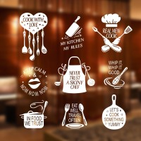 Stiker Cook With Love Dinding Kaca  Kantin Resto Cafe Wall Sticker