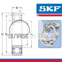 Deep Groove Ball Bearing SKF 6208 2RS/C3