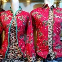 Jual Batik Sarimbit couple bolero merah Murah