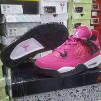 Sepatu Basket Air Jordan 4 Think Pink