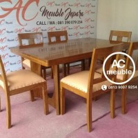 Set meja makan,meja makan minimalis