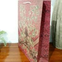 Jual paper bag karton motif batik tas kado XL tas tenteng souvenir Murah