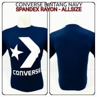 kaos oblong converse bintang navy logo spandex