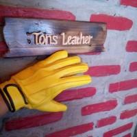 sarung tangan vintage kulit asli
