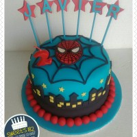 Kue Ulangtahun Spiderman/ Fondant Cake/ Spiderman Cake