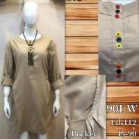 harga Sp112 Mini Midi Dress Saku Katun Polos Lengan Panjang Import Bagus Tokopedia.com