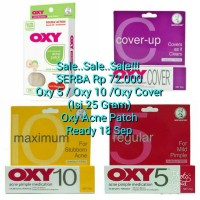 SALE... (Isi 25 Gram) Oxy 5 / Oxy 10 / Oxy Cover / Oxy Acne Patch