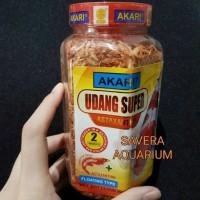 Udang Kering Super AA 130gr Spirulina / Pakan Ikan Akari / Ebi