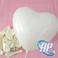 balon latex hati putih/ balon latex love putih / balon hati/balon love