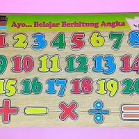 Jual Puzzle Berhitung Angka - Jual Murah Mainan Edukasi Edukatif Anak Bayi Murah