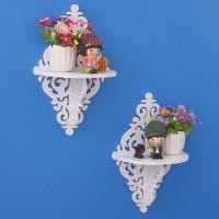 MH51401 Decorative Rack rak Shabby chic vintage ( 1set isi 2 )