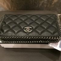 DOMPET Chanel  KULIT DOMBA ASLI - Long Walet Black