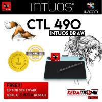 Wacom Intuos Draw Pen Small Comic CTL490 Tablet Gambar Desain CTL 490