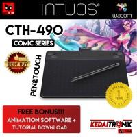 Jual RESMI CTH-490 Wacom Intuos Draw Pen+Touch Small Comic CTH490 Manga K1 Murah