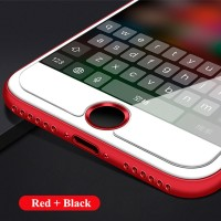 iPhone 7 / 7 Plus Aluminum Touch ID Home Button Sticker - Red Black