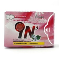 IN3 Bio Sanitary Pad Night Use Pembalut Herbal