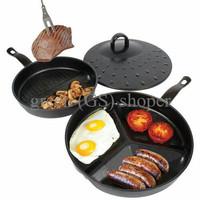 Jual [BEST] DIVIDE WONDER PAN SET, Panci Masak, Pemanggang, Alat Masak, Gri Murah