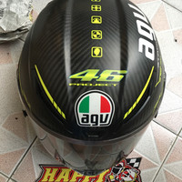 Helm AGV Pista Gp carbon VR46 V2 size XL2nd 95% pinlock tearoff segel